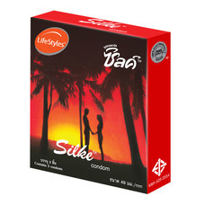Silke Red ถุงยางอนามัย 49 มม. (12 กล่อง)