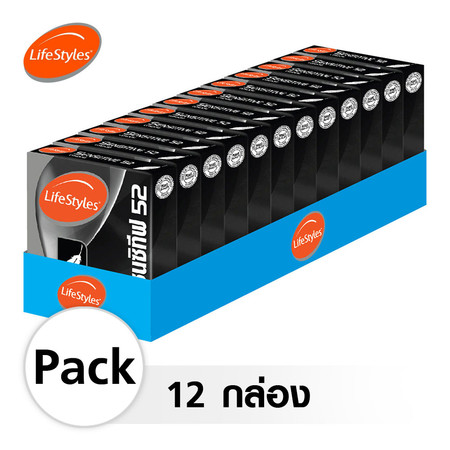 Lifestyles Sensitive ถุงยางอนามัย 52 มม. (12 กล่อง)