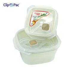 CLIP PAC กล่องอาหารเข้าไมโครเวฟ ชุด 2 ชิ้น รุ่น S2-105 - สี Ivory
