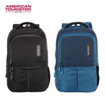 American Tourister - กระเป๋าเป้สะพายหลัง รุ่น TECH GEAR LAPTOP BACKPACK 01 - สี BLACK+TEAL