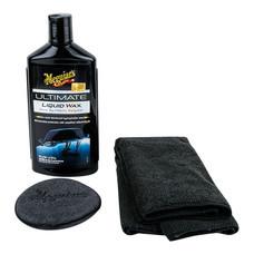 MEGUIAR'S ULTIMATE Liquid Wax - 473 มล. (พร้อมผ้าไมโครไฟเบอร์+ฟองน้ำเนื้อนุ่ม)