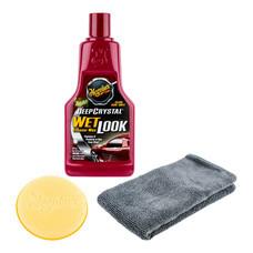 MEGUIAR'S DEEP CRYSTAL WET Cleaner Wax  LOOK - 473 มล. (พร้อมผ้าไมโครไฟเบอร์+ฟองน้ำเนื้อนุ่ม)