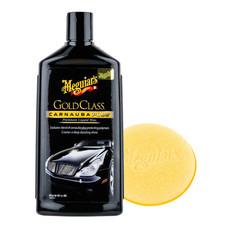 MEGUIAR'S GOLD CLASS Carnauba Plus CAR WAX (Liquid) - 473 มล. (พร้อมฟองน้ำขัด)
