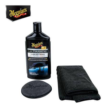 MEGUIAR'S ULTIMATE Liquid Wax - 473 มล. (พร้อมผ้าไมโครไฟเบอร์+ฟองน้ำเนื้อนุ่ม)(G18216)