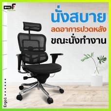 DF Prochair เก้าอี้สำนักงานเพื่อสุขภาพ รุ่น Ergo1 สีดำ