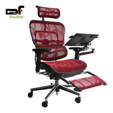 DF Prochair เก้าอี้สำนักงานเพื่อสุขภาพ รุ่น Ergo2 Top Plus สีแดง