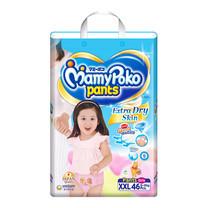 กางเกงผ้าอ้อมสำเร็จรูป Mamypoko Pants Extra Dry Skin Girls ไซส์ XXL 46 ชิ้น