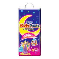 ผ้าอ้อมสำเร็จรูปแบบกางเกง MamyPoko Kids Pants Night time Girls ไซส์ XL 36 ชิ้น