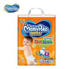 ผ้าอ้อมสำเร็จรูปแบบกางเกง MamyPoko Pants Happy Day&Night ไซส์ L 62 ชิ้น