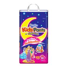 ผ้าอ้อมสำเร็จรูปแบบกางเกง MamyPoko Kids Pants Night time Girls ไซส์ XXL 30 ชิ้น