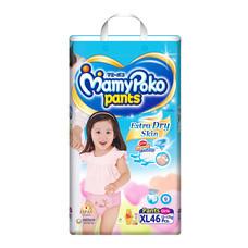 ผ้าอ้อมสำเร็จรูปแบบกางเกง MamyPoko Pants Extra Dry Skin Girls ไซส์ XL 46 ชิ่น (ขายยกชุด 3 แพ็ค)