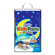 ผ้าอ้อมสำเร็จรูปแบบกางเกง MamyPoko Kids Pants Night time Boys ไซส์ XXXL10 ชิ้น