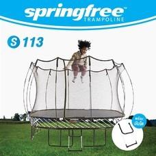 springfree แทรมโพลีนแบบสี่เหลี่ยม S113 ขนาด 3.4 x 3.4 เมตร