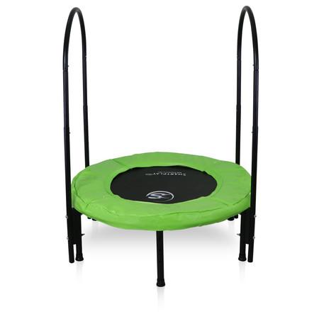แทรมโพลีน Super Bounce ขนาด 40 นิ้ว(101 ซม.) ช่วยลดแรงกระแทก สำหรับ ผู้สูงอายุ หรือ ผู้มีปัญหาระบบข้อต่อ พร้อม ยูบาร์ และ ทีบาร์ ช่วยพยุงตัว