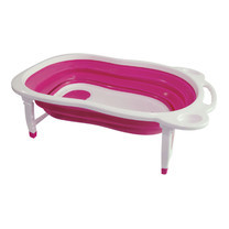 NANNY อ่างอาบน้ำพับเก็บได้ - สีชมพู