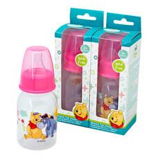 NANNY Winnie The Pooh Set ขวดนม 4 ออนซ์ พร้อมฝาครอบทรงบูท (PP) - Pink แพ็ค3