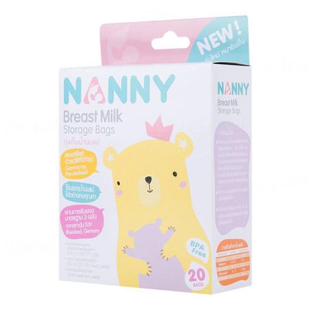 NANNY ถุงเก็บน้ำนมแม่ แพ็ค 20 ถุง x 12 กล่อง