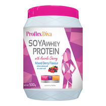 PROFLEX Diva SOYA WHEY PROTEIN Mixed Berry - 500g