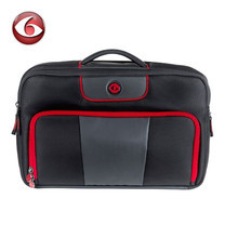 SIX PACK FITNESS EXECUTIVE BRIEFCASE 300 - Black/Red