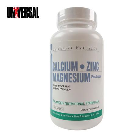 UNIVERSAL CALCIUM ZINC MAGNESIUM 100 Tablets