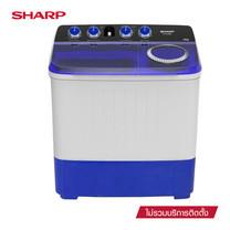 SHARP เครื่องซักผ้าฝาบน Twin Tub รุ่น ES-TW140BL ขนาด 14 กก.