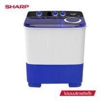 SHARP เครื่องซักผ้าฝาบน Twin Tub รุ่น ES-TW70BL ขนาด 7 กก.