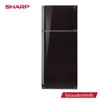 SHARP ตู้เย็น 2 ประตู D-Pro Inverter Series ขนาด 20.7Q รุ่น SJ-X58GP-BK (Black)