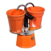 Bialetti ชุดหม้อต้มกาแฟ รุ่น Mini Express (BL-0006191) - Orange ขนาด 2 ถ้วย
