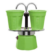 Bialetti ชุดหม้อต้มกาแฟ รุ่น Mini Express (BL-0006192) - Green ขนาด 2 ถ้วย