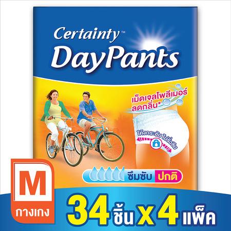 Certainty กางเกงผ้าอ้อม รุ่น Daypants ขนาดจัมโบ้ ไซส์ M (34 ชิ้น x 4 แพ็ค)