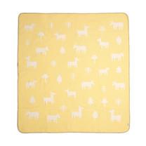 Mamas & Papas ผ้าห่มสีเหลือง ขนาดใหญ่ ลาย Animal
