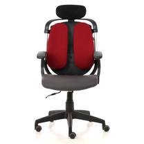 Ergotrend เก้าอี้เพื่อสุขภาพ เก้าอี้ทำงาน เก้าอี้สำนักงาน เออร์โกเทรน รุ่น Dual-03RFF สีแดง