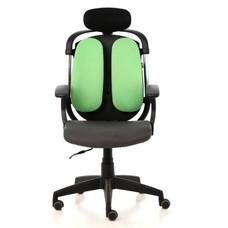 Ergotrend เก้าอี้เพื่อสุขภาพ เก้าอี้ทำงาน เก้าอี้สำนักงาน เออร์โกเทรน รุ่น Dual-03GFF - สีเขียว