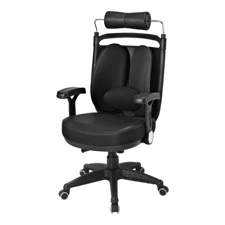 Ergotrend เก้าอี้เพื่อสุขภาพ เก้าอี้ทำงาน เก้าอี้สำนักงาน เออร์โกเทรน รุ่น Dual-08BFP ผ้าดำ