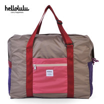 HELLOLULU กระเป๋าพับได้ รุ่น BC-H80013-04 Packable Boston Bag 35L - สี Almond Pink