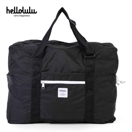 HELLOLULU กระเป๋าพับได้ รุ่น BC-H80013-07 Packable Boston Bag 35L- สี Black