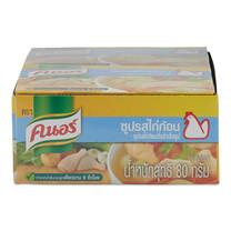 คนอร์ ซุปก้อนปรุงอาหาร รสไก่ ขนาด 80 กรัม แพ็กละ 6 ก้อน