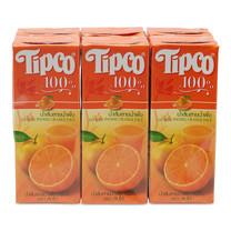 ทิปโก้ น้ำส้มสายน้ำผึ้ง 100% ขนาด 200 มล. แพ็ก 6 กล่อง