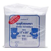 แพ็ท มาร์เก็ตติ้ง ถุงหูหิ้วหนา 12x20 นิ้วสีขาว แพ็กละ 1.5 กก.