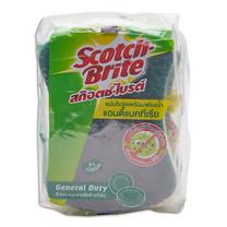 สก็อตช์ไบรต์ แผ่นใยขัดพร้อมฟองน้ำ แอนตี้แบคทีเรีย แพ็กละ 3 ชิ้น