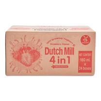 ดัชมิลล์ 4 อิน 1 โยเกิร์ตพร้อมดื่มยูเอชที รสสตรอเบอร์รี่ ขนาด 180 มล. แพ็ค 24 กล่อง