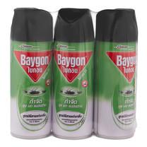 ไบกอน ยาฉีดยุงสีเขียวไร้กลิ่น 300มล. แพ็ก 3 กระป๋อง
