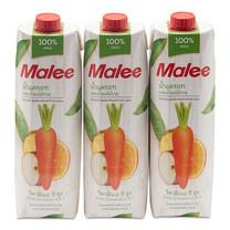 มาลี น้ำแครอทผสมผลไม้รวม 100% ขนาด 1000 มิลลิลิตร x 3 กล่อง