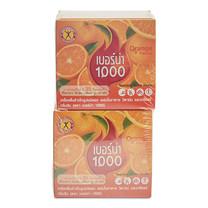เนเจอร์กิฟ เบอร์น่า1000 รสส้ม ขนาด10 ซอง แพ็ก2กล่อง