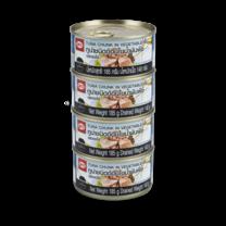 aro ปลาทูน่าก้อนในน้ำมัน ขนาด 185 ก. แพ็คละ 4 กระป๋อง