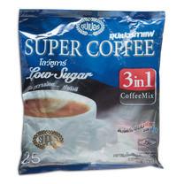 ซุปเปอร์กาแฟ สำเร็จซุปเปอร์โลว์ซูการ์ ขนาด15 ก. แพ็ก25 ซอง
