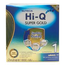 ไฮคิว ซูเปอร์โกลด์ นมผง สูตร 1 รสจืด 1800 กรัม