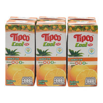 ทิปโก้คูล น้ำส้มมิกซ์ 40% 200มิลลิลิตร แพ็ค 6 กล่อง