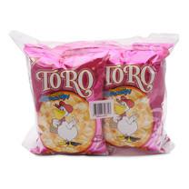 โตโร ข้าวโพดอบกรอบ รสน้ำตาลและเนย ขนาด 80 กรัม แพ็ก 4 ห่อ