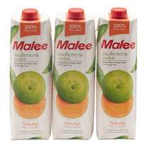 มาลี น้ำส้มเขียวหวาน 100% 1000 มล. x 3 กล่อง